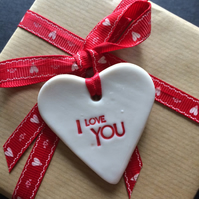 Porcelain I Love You Gift Tag