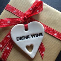 Porcelain Drink Wine Gift Tag