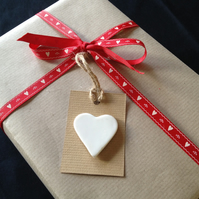 Porcelain Heart Gift Tag