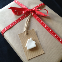 Porcelain New Home Gift Tag