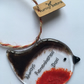 "Handmade Fused Glass ""Always Remembered Dad"" Robin Christmas Decoration"