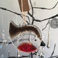 "Handmade Fused Glass ""Baby's 1st Christmas"" Robin Christmas Decoration"