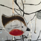 "Handmade Fused Glass ""Grandad"" Robin Christmas Decoration"
