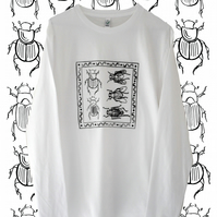 Dung Ecology Organic T Shirt - Long Sleeve White