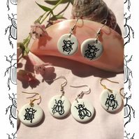 Dung Ecology Minimal Drop Earrings