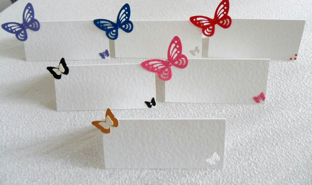 Name Place Cards Butterflies
