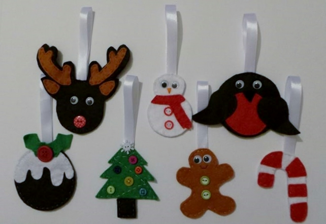 Cute Felt Christmas Tree Decorations Christma Folksy