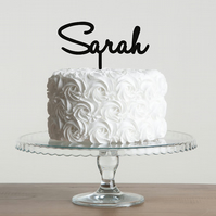 Personalised Name Party Acrylic  Cake Topper
