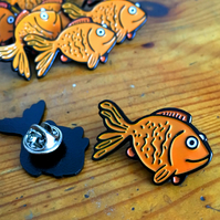 Enamel Pin Goldfish