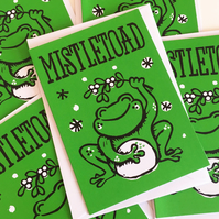Pack of 5 Mistletoad Funny Christmas cards