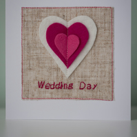 Fluttering Heart Wedding Card