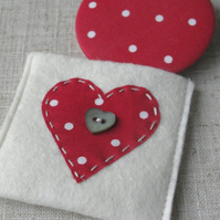 Pocket Mirror - Dotty Heart