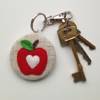 Apple a Day Keyring