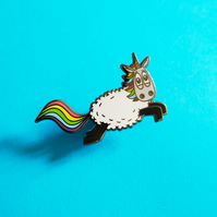 Ewenicorn! - Enamel pin - a sheep x unicorn pin badge