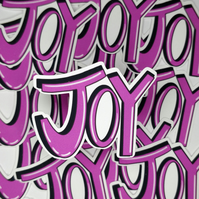 Joy Die Cut Vinyl Sticker