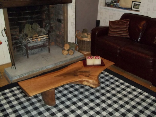 Hand made unique oak Coffee table