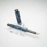 Pen. Handmade Diamond Cast Fountain Pen.