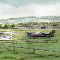 Sandown Airport Limited Edition Print