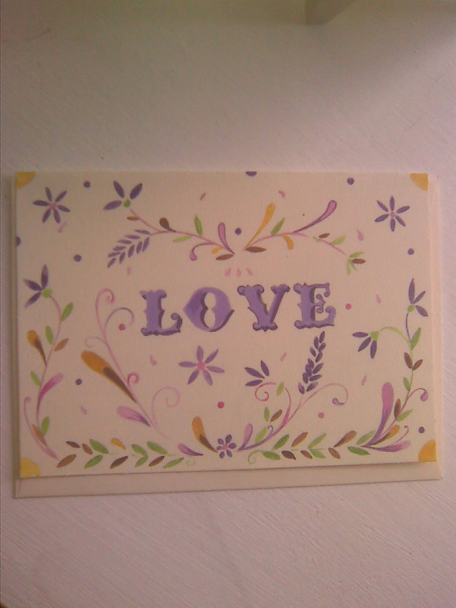 5x7 greeting card blank inside(love)