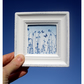 Little Blue Butterfly Meadow Cyanotype Framed