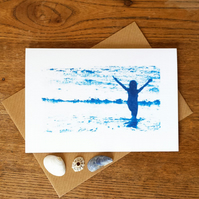 'Sea celebration', Blue Cyanotype Card