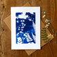 'Folkloric fairytale', Blue Cyanotype Card