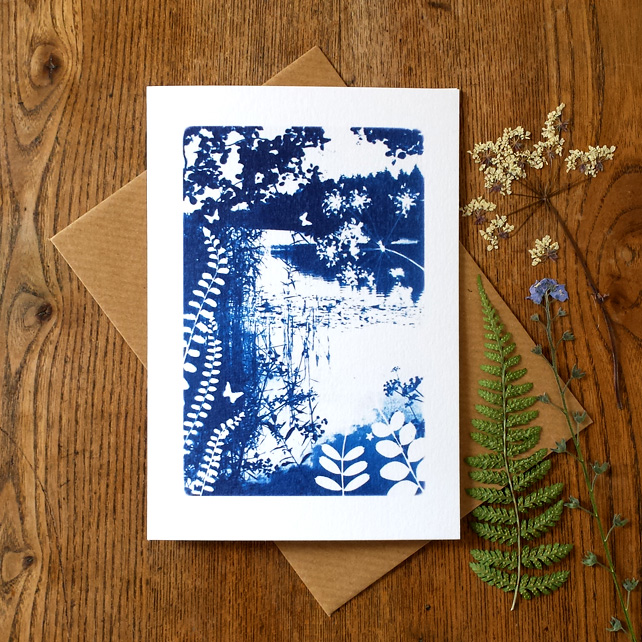 'Day dream', Blue Cyanotype Card