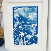 'Secret Stream' Original Cyanotype