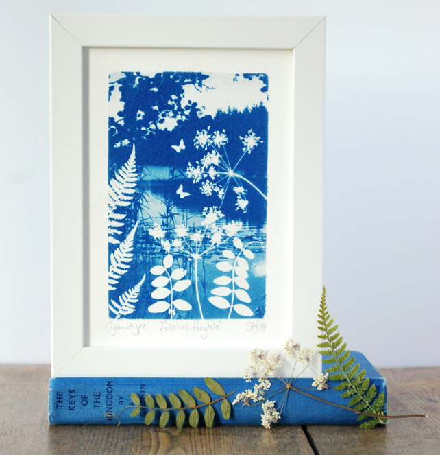 'Folkloric fairytale' Original Cyanotype