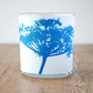 Cow parsley White Cyanotype candle holder