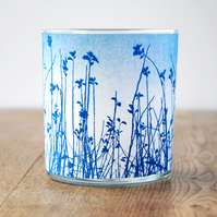 Meadow Cyanotype Tealight Holder