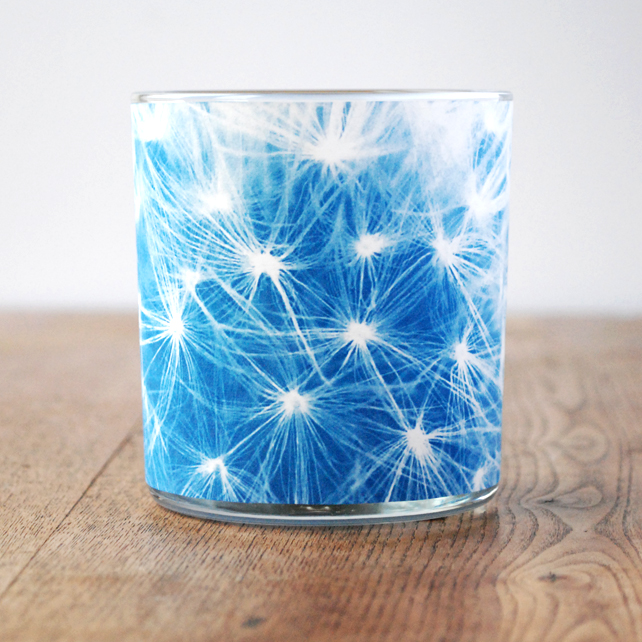 Dandelion Cyanotype Candle Holder