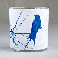 Delicate Swallow Cyanotype Tea light Holder