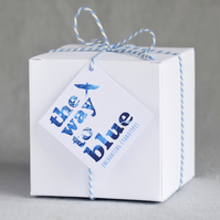 Gift Box for 'The Way to Blue' Cyanotype Candle Holders