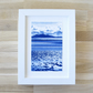 Framed Welsh Seascape Cyanotype Newborough Beach View Anglesey Blue & White