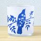 Blackbird and Cow Parsley Blue and White Cyanotype Art Tealight Holder