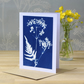 Cow Parsley Cyanotype Card No. 2