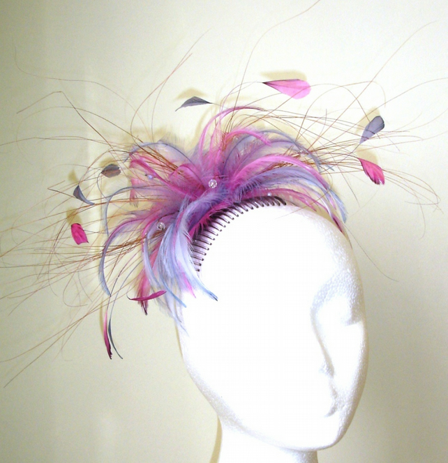 Feather & Crystal Fascinator