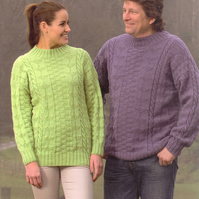 Knitting Pattern Wendy 5682 Unisex Sweater Jumper