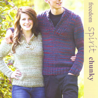 KNITTING PATTERN TWILLEYS OF STAMFORD 9130 UNISEX SWEATER JUMPER