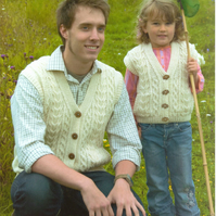 KNITTING PATTERN WENDY 5586 FAMILY GILLETS