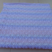 Hand knitted heirloom baby shawl blanket afghan