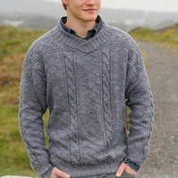 Hand knitted mens jumper sweater - made to order