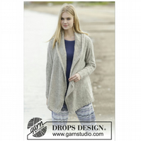 Hand knitted ladies edge to edge jacket cardigan S - XXXl