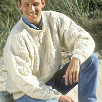 Hand knitted unisex mens womens jumper sweater - made to order