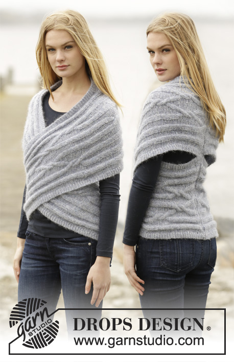 Hand knitted ladies infinity wrap cardigan top XS - XXXL