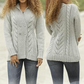 Hand knitted ladies womens wool cardigan made to order