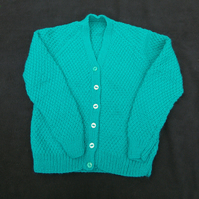 Girls boys green cardigan to fit 26 inch chest