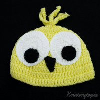 Hand crochet Easter chick baby hat - 0-3 months photo prop