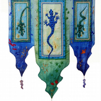 """Three Lizards"" wallhanging"